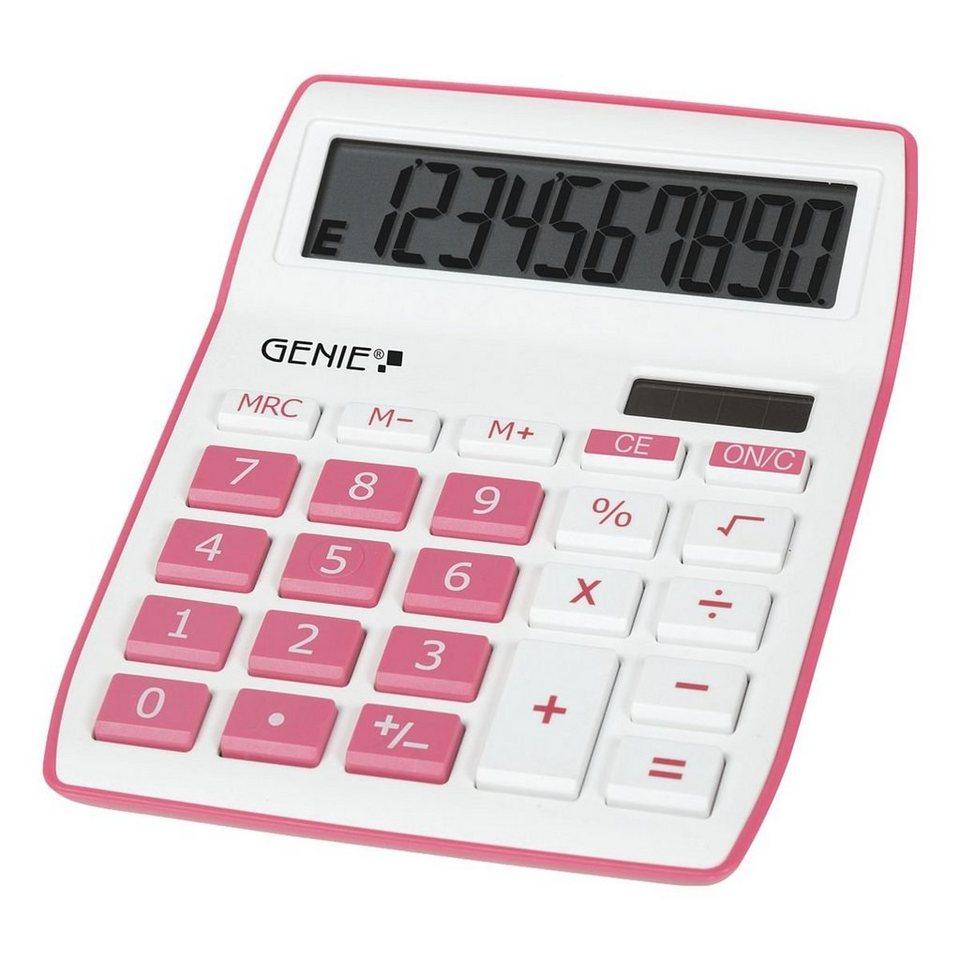 GENIE Tischrechner »840« in pink/weiß