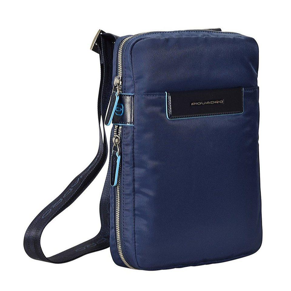 Piquadro Celion Umhängetasche Leder 22 cm in blau