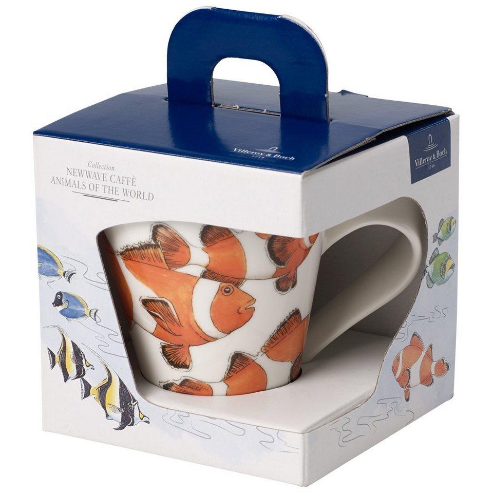 VILLEROY & BOCH Becher mit Henkel (Geschenkkarton) »NewWave Caffè Clownfisch« in Dekoriert