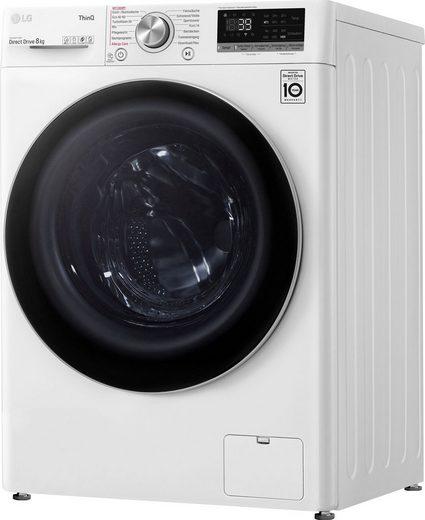 LG Waschmaschine Serie 7 F4WV708P1E, 8 kg, 1400 U/min