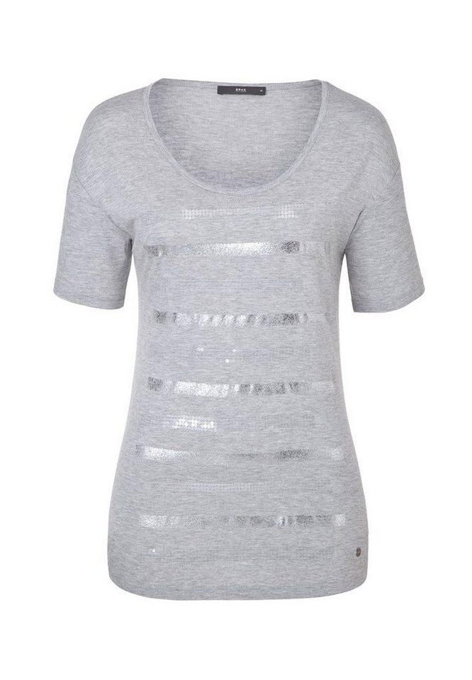 BRAX T-Shirt »CORA« in STONE MEL.