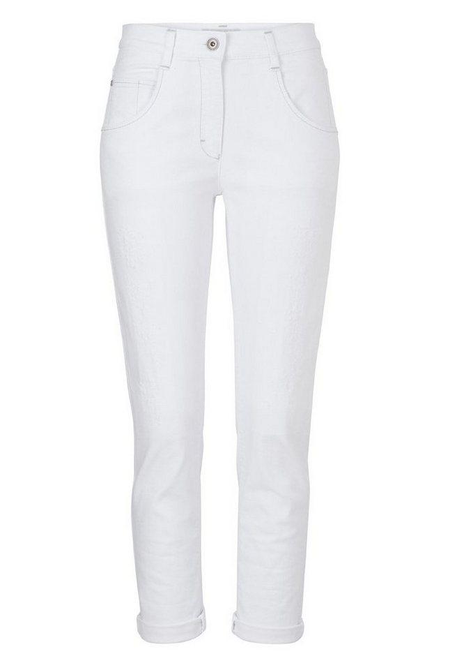 BRAX Damenjeans Five-Pocket »MONTANA SUMMER« in DESTROYED WHITE