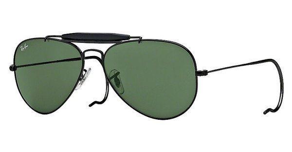 RAY-BAN Herren Sonnenbrille »OUTDOORSMAN RB3030« in L9500 - schwarz/grün