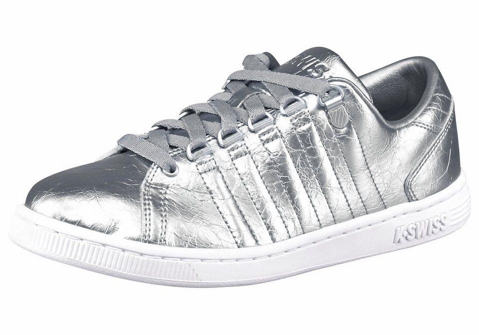 K-Swiss »Lozan Aged« Sneaker in angesagter Reptil-Prägung in silberfarben