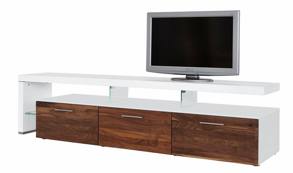 lowboard nussbaum wei. Black Bedroom Furniture Sets. Home Design Ideas