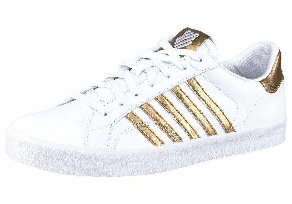K-Swiss Sneaker »Belmont SO« in weiß-goldfarben