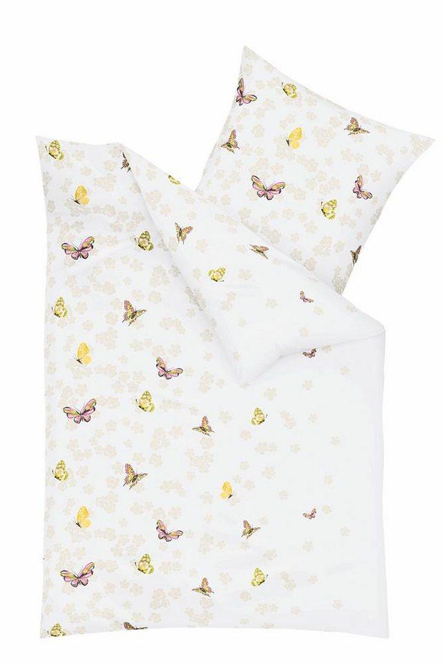 Bettwäsche, Kaeppel, »Playful«, mit Schmetterlingen in gelb