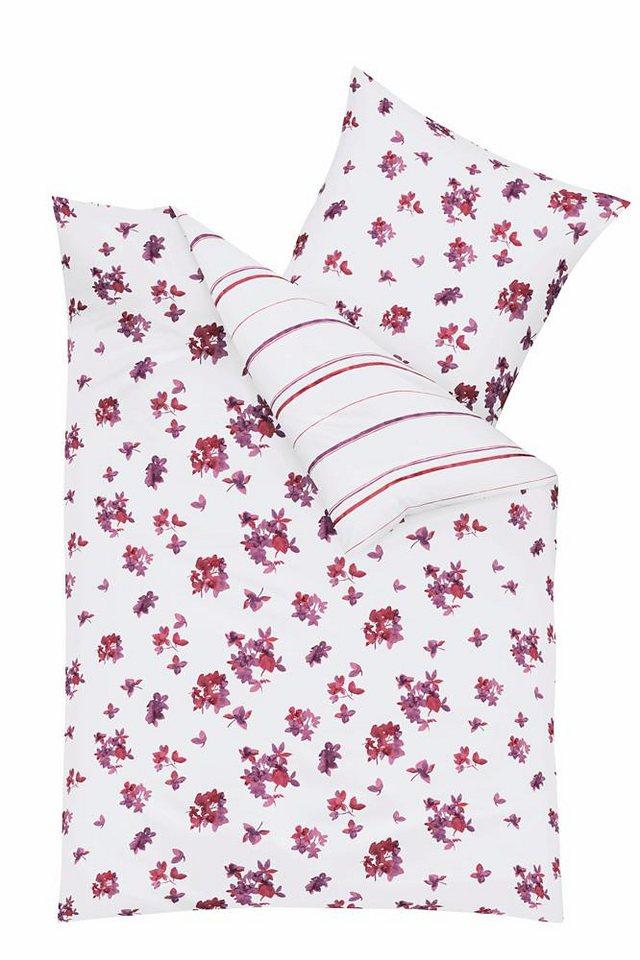 Wendebettwäsche, Kaeppel, »Claire«, mit Blütenmotiven in pink