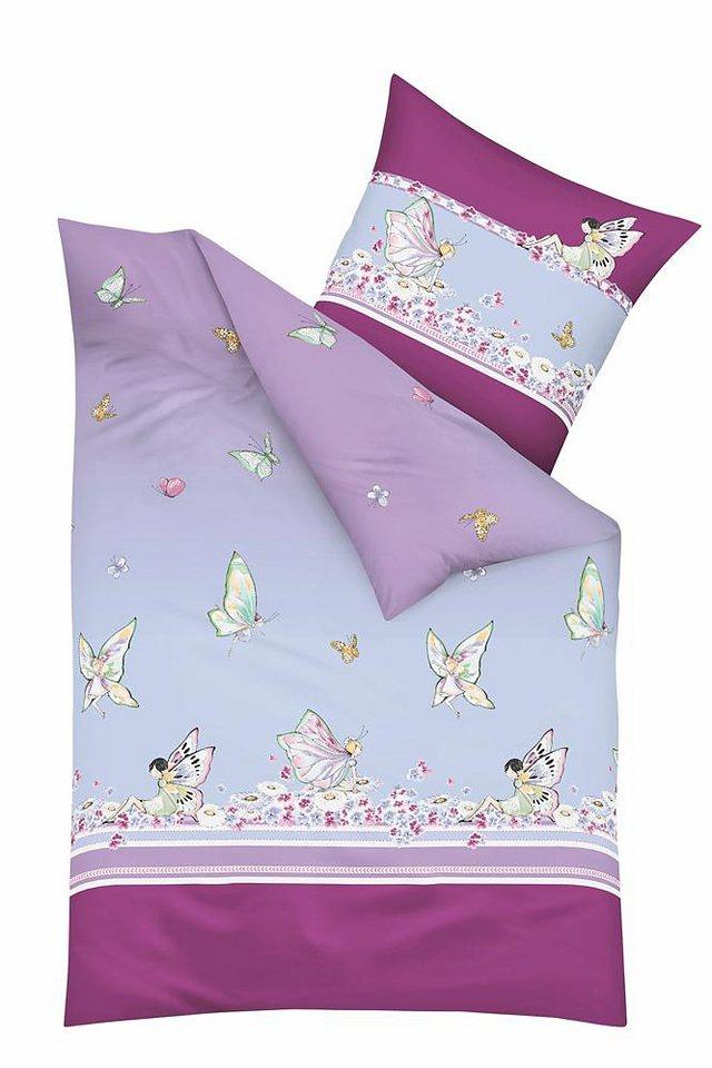 Kinderbettwäsche, Kaeppel, »Miss Butterfly«, mit Feen in lila
