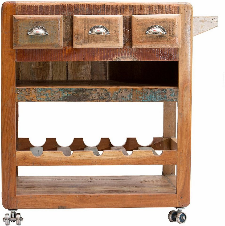 SIT Küchenwagen »Fridge«, Breite 78 cm in braun/bunt
