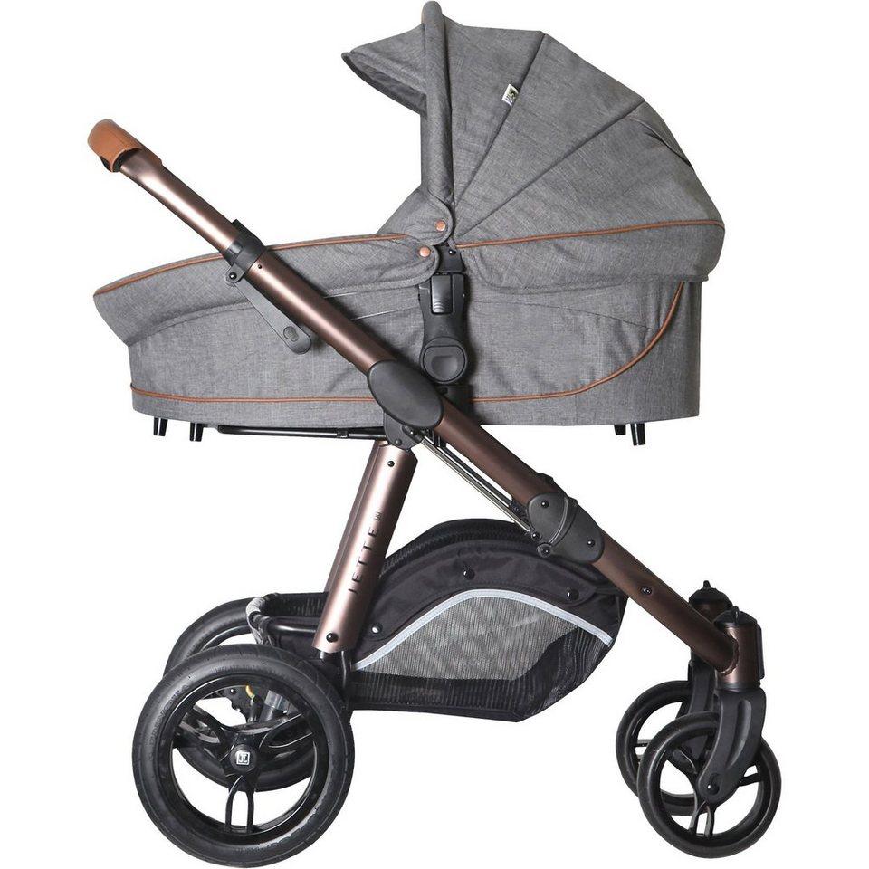 Jette Kinderwagen Kombi Kinderwagen JOEL AIR, grey flanell in grau meliert