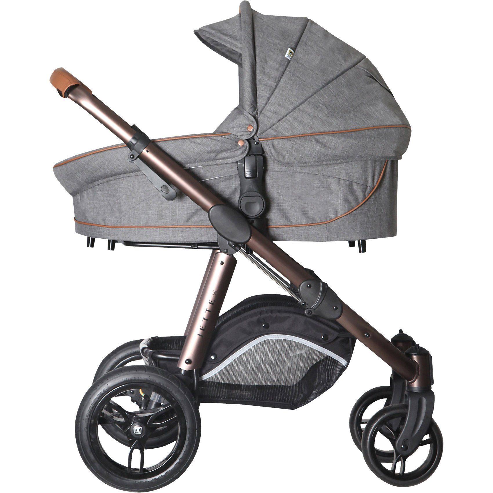 Jette Kinderwagen Kombi Kinderwagen JOEL AIR, grey flanell