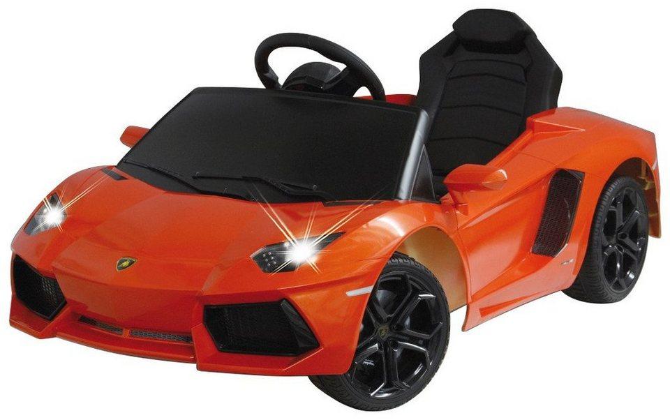 JAMARA KIDS Elektroauto »Ride-On Lamborghini Aventador«, orange, inkl. Fernsteuerung in orange
