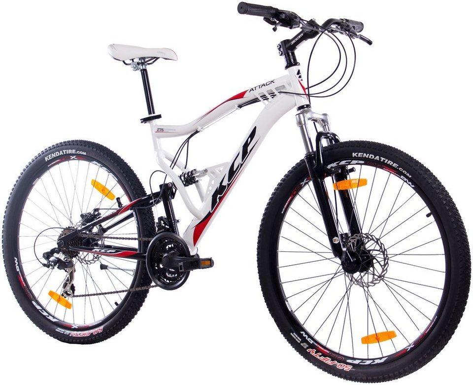 kcp mountainbike attack wei 27 5 zoll 21 gang. Black Bedroom Furniture Sets. Home Design Ideas