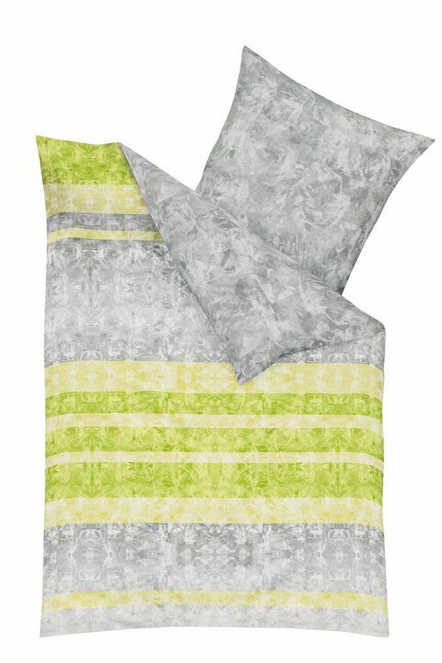 Bettwäsche, Kaeppel, »Static«, mit dekorativem Muster in grün