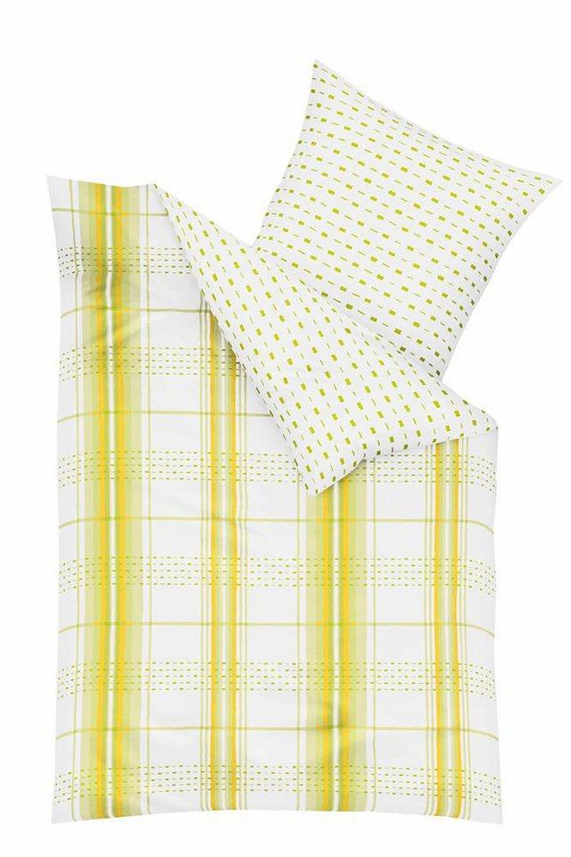 Bettwäsche, Kaeppel, »Statement«, mit Mustern in gelb
