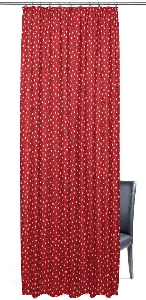 Vorhang, Gardisette, »Charlie«, mit Kräuselband (1er Pack) in rot