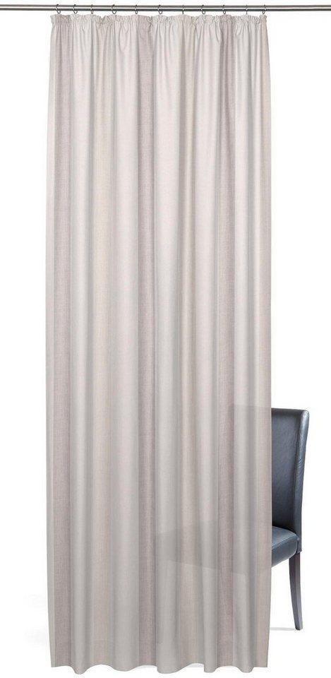 Vorhang, Gardisette, »Garden Stripe«, mit Kräuselband (1er Pack) in creme/grau