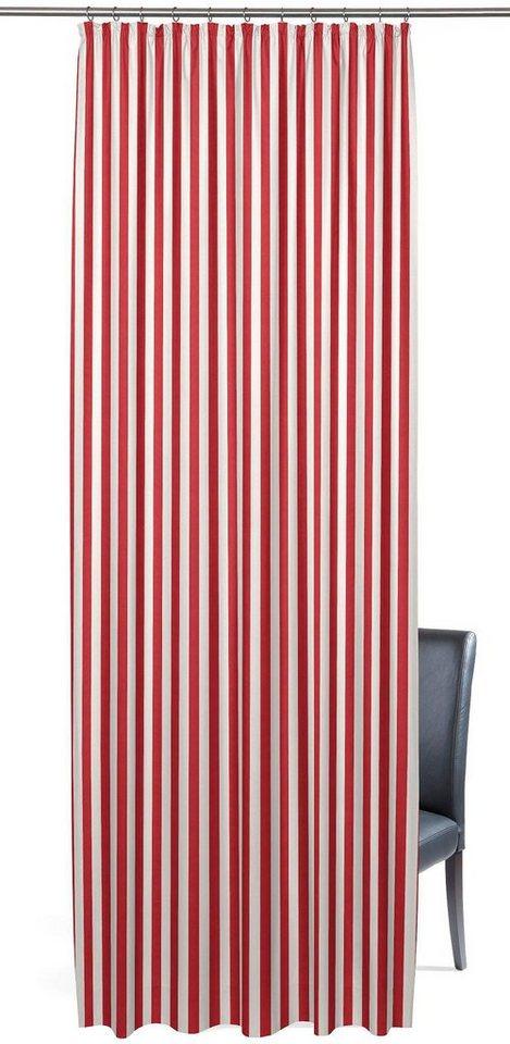 Vorhang, Gardisette, »Linus« (1er Pack) in rot