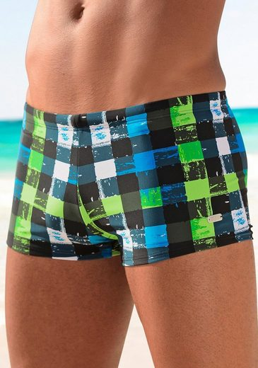 Buffalo Boxer-Badehose in trendiger Karo-Optik