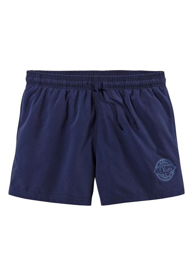 Badeshorts, s.Oliver RED LABEL Beachwear in marine