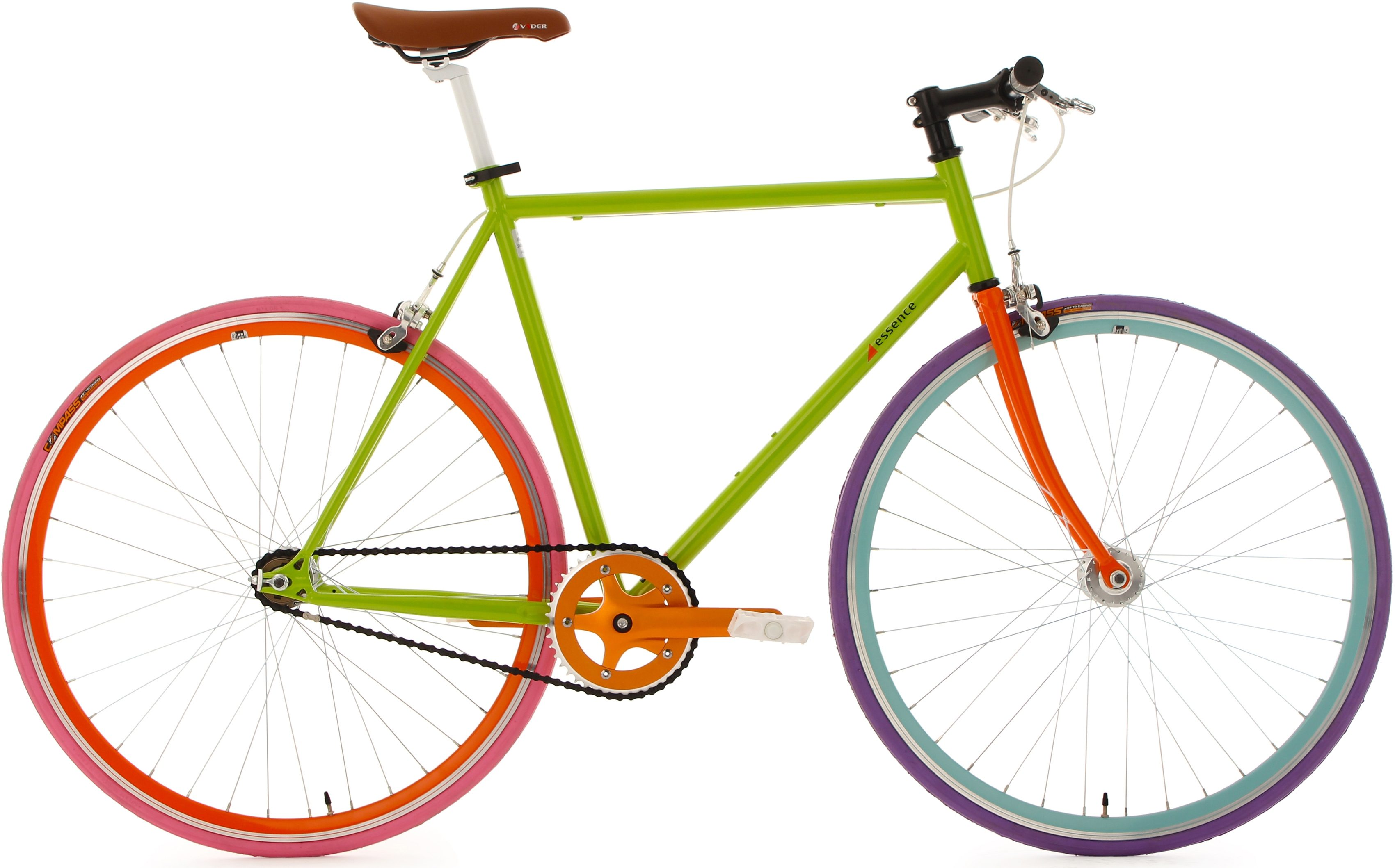KS Cycling Fixie Fitnessrad, 28 Zoll, grün, »Essence«