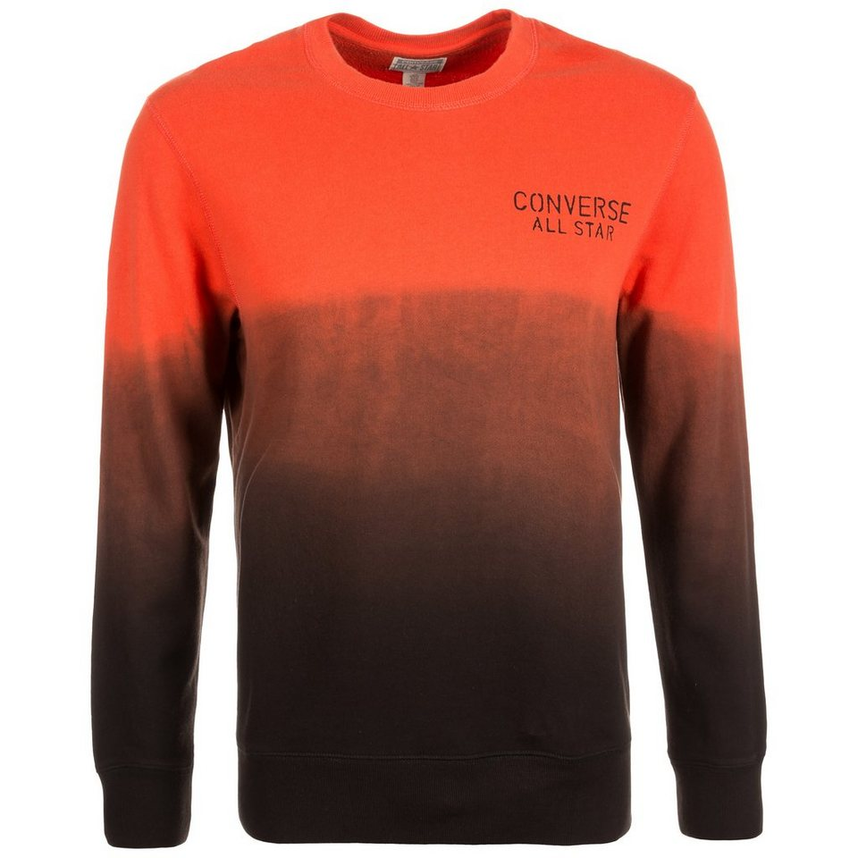 CONVERSE Ombre Keeper Crew Sweatshirt Herren in orange / schwarz