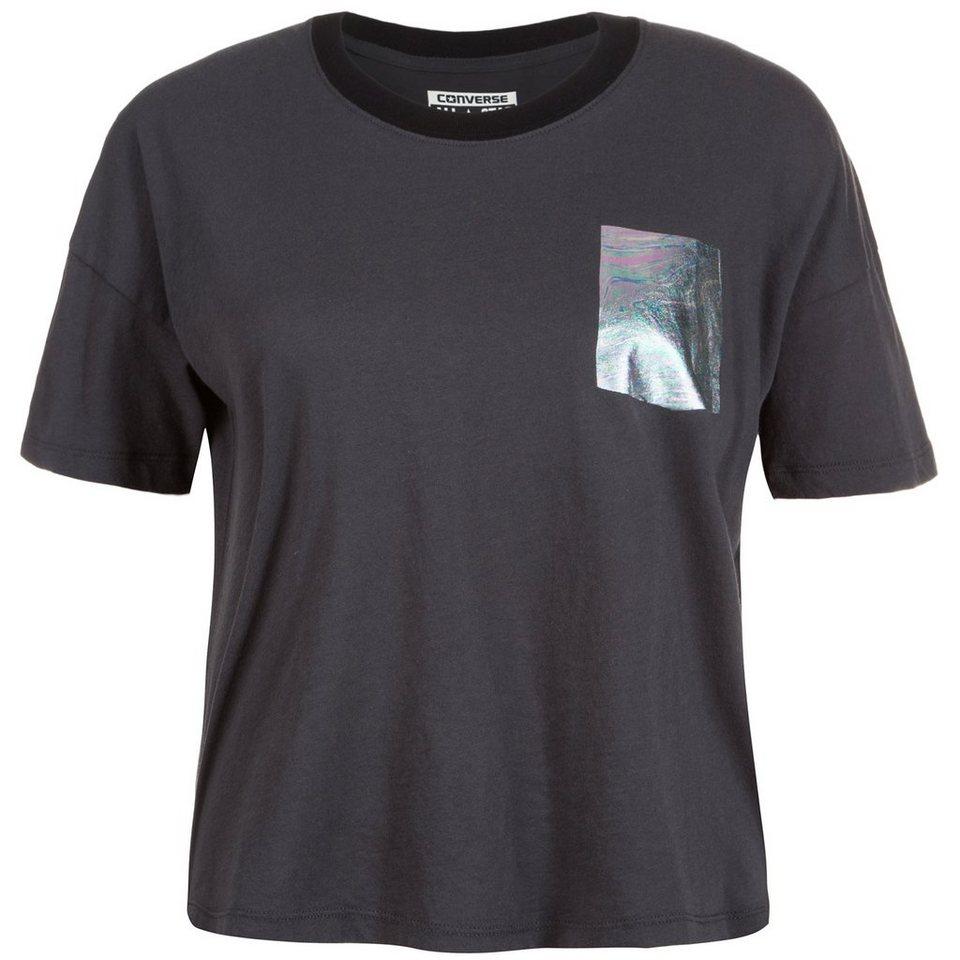 CONVERSE Oil Slick Swing T-Shirt Damen in anthrazit