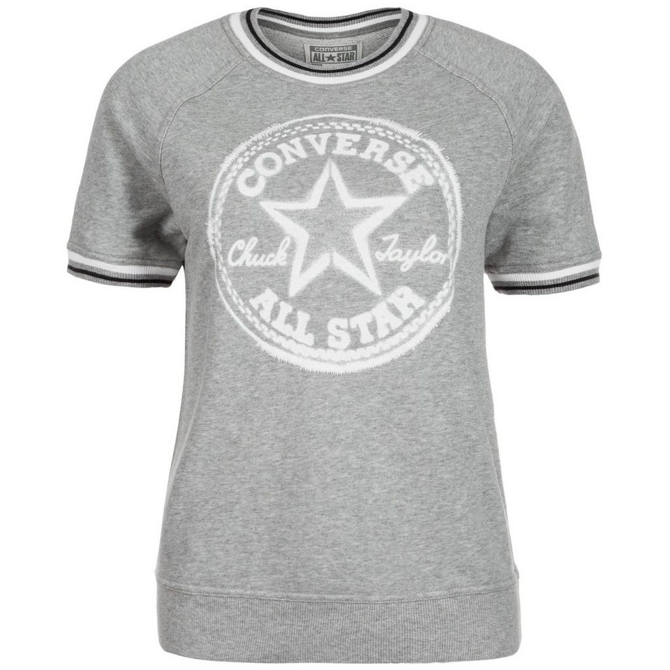 CONVERSE Core Plus Crew T-Shirt Damen in grau