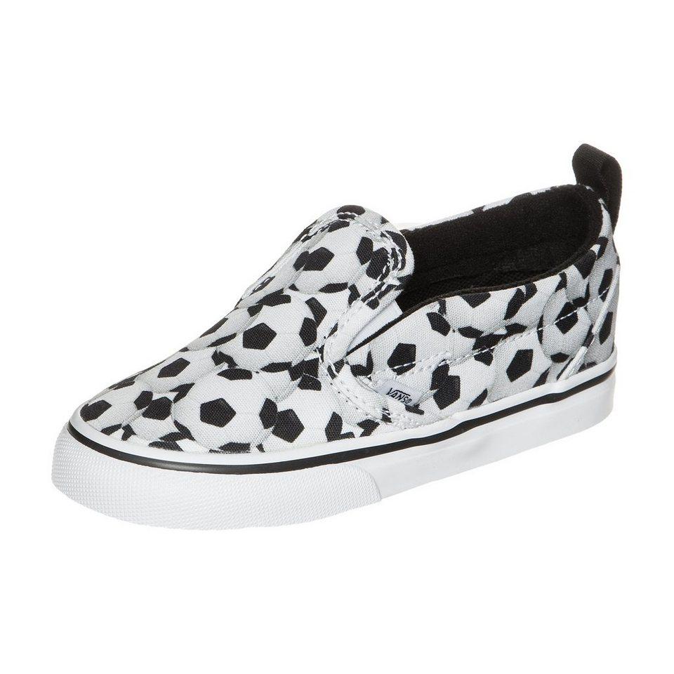 VANS Slip-On V Sports Sneaker Kleinkinder in schwarz / weiß