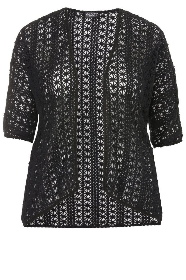 "VIA APPIA DUE Sommer-Cardigan »""Easy Deluxe""« in schwarz"