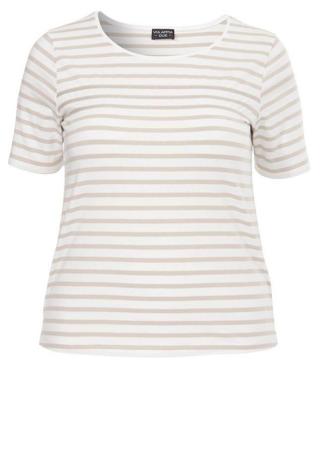 VIA APPIA DUE Ringel-T-Shirt »La Marinère Moderne« in SAND / ECRU