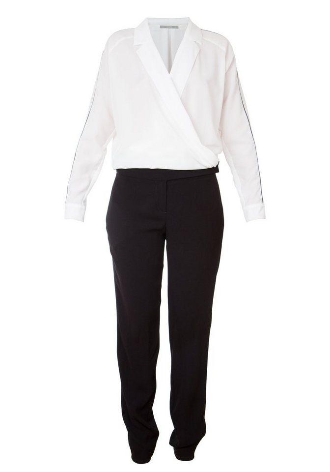 TUZZI Overall mit gewickelter Revers-Blus in black