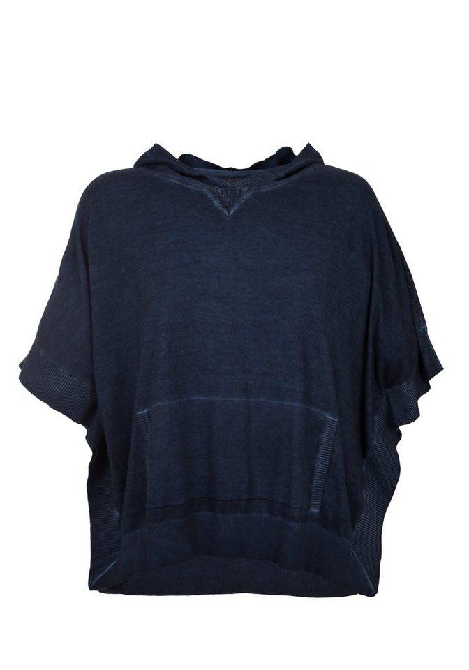 TUZZI Cape-Pulli garment-dye in denim
