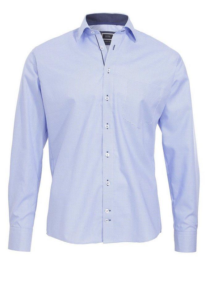 Hatico Baumwollhemd »bügelfrei« in blau