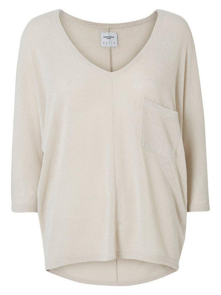Vero Moda Oversized Strick- Bluse in Moonbeam