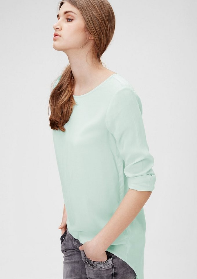 s.Oliver Denim Blusenshirt mit verlängertem Rücken in deep blue
