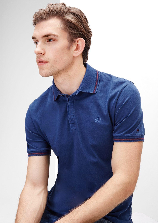 s.Oliver RED LABEL Poloshirt aus Baumwoll-Jersey