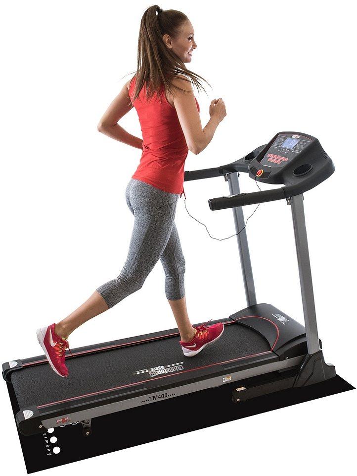 Christopeit Sport® Laufband inkl. Unterlegmatte, »TM 400« in mehrfarbig