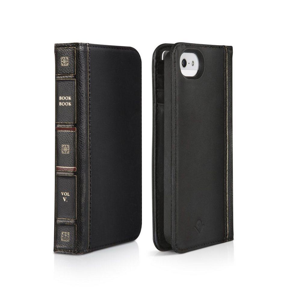 Twelve South Lederhülle im antiken Buchformat für iPhone 5/5s »BookBook« in Schwarz