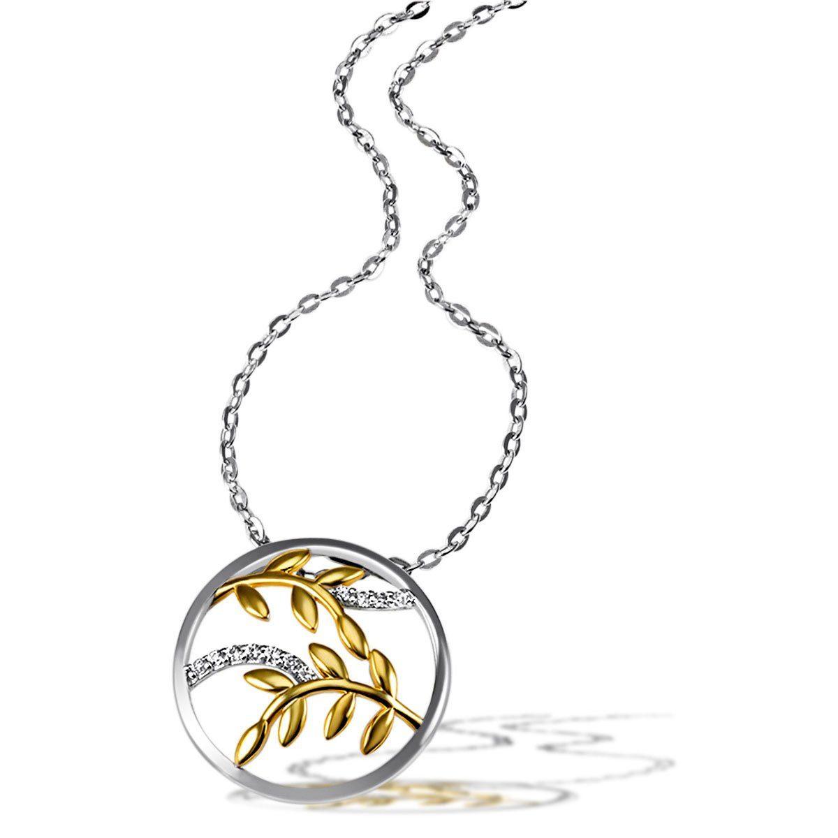 goldmaid Collier 925/- Sterlingsilber 11 weiße Zirkonia