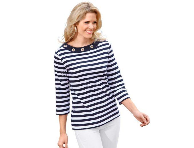 Classic Basics Shirt mit großen silberfarbenen Ösen Viele Arten 2018 Online-Verkauf Billig Verkaufen Wiki ObWrqfwAqa