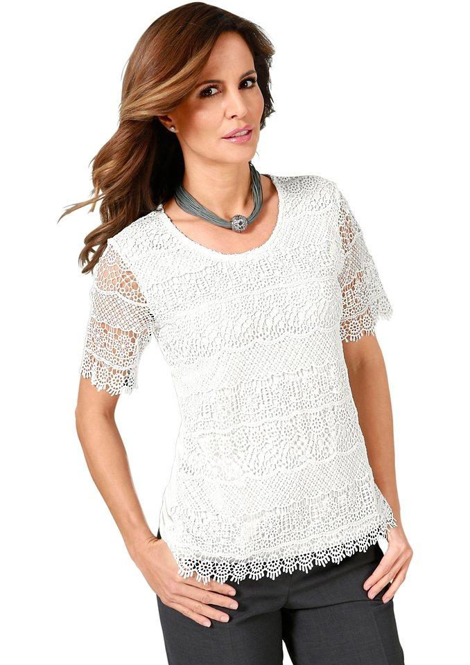 Lady Shirt mit Spitze in ecru