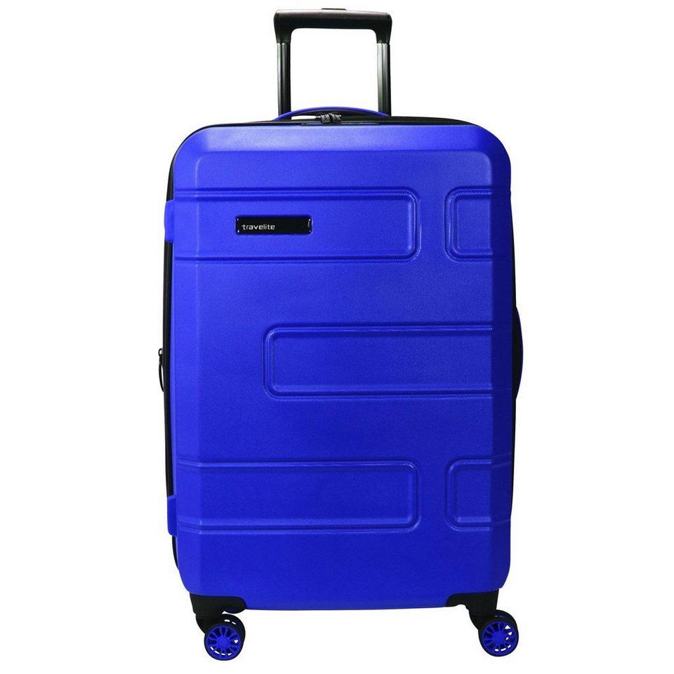 Travelite Move 4-Rollen Trolley 76 cm in lila blau