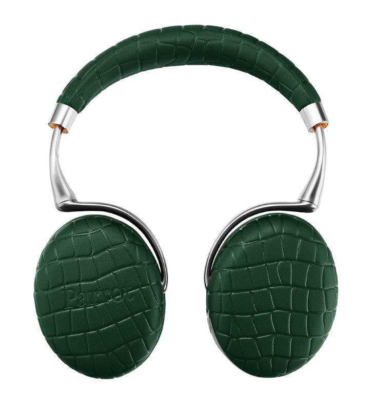 Parrot Audio Suite Bluetooth Kopfhörer mit Kroko-Effekt »Parrot Zik 3 by Philippe Starck« in kroko-smaragdgrün