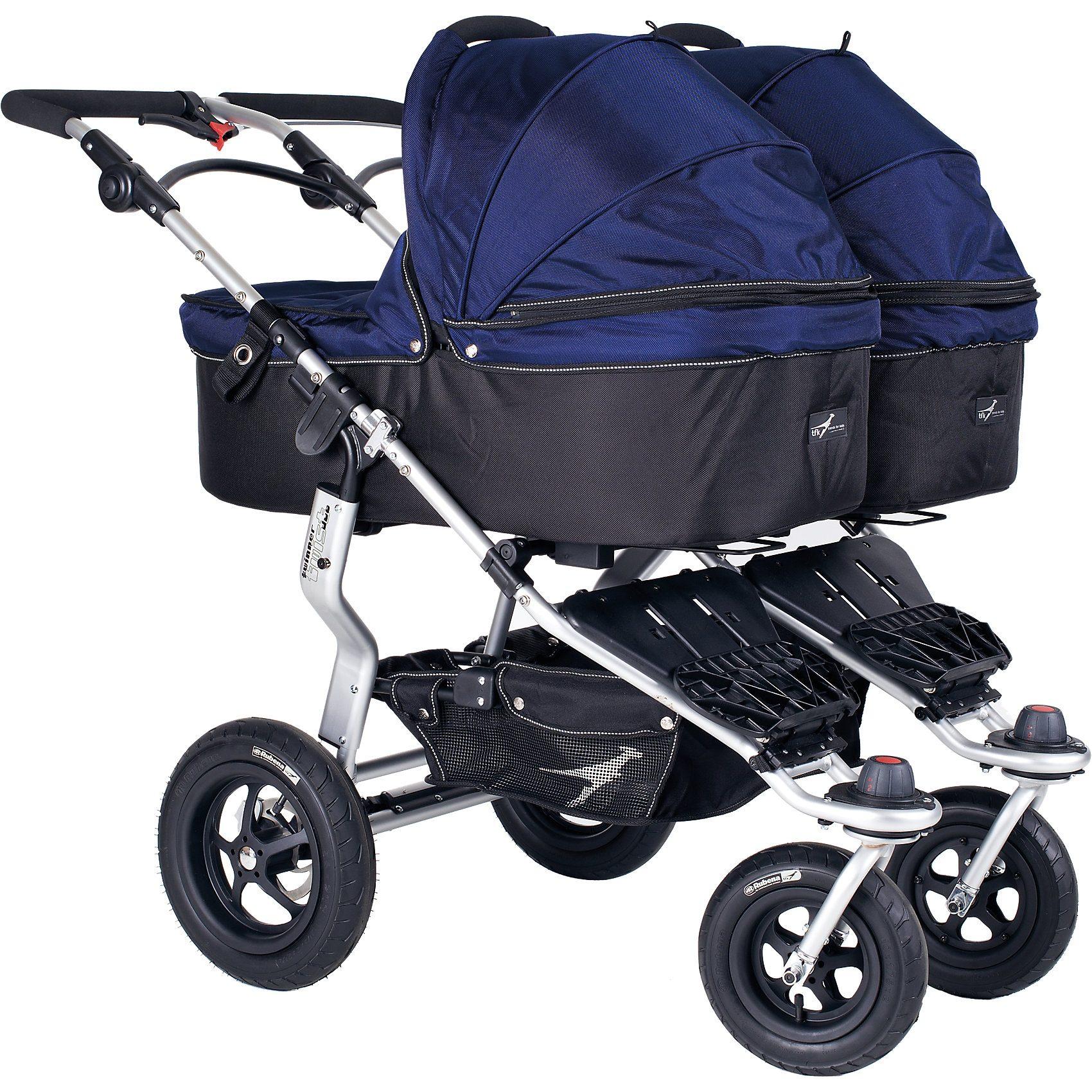 TFK Kinderwagenaufsatz für Twinner Twist Duo, classic blue