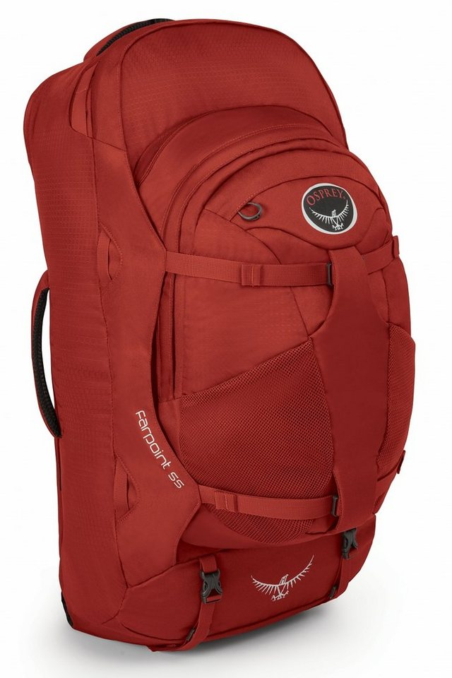 Osprey Sport- und Freizeittasche »Farpoint 55 Backpack M/L« in rot