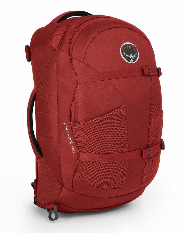 Osprey Sport- und Freizeittasche »Farpoint 40 Backpack M/L« in rot