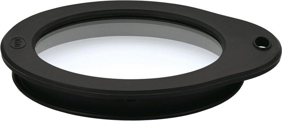 RÖSLE Frischhaltedeckel aus Glas in schwarz/transparent