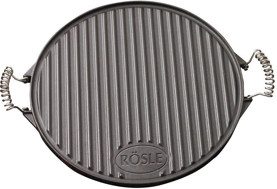 RÖSLE Grillplatte rund 40 cm in schwarz